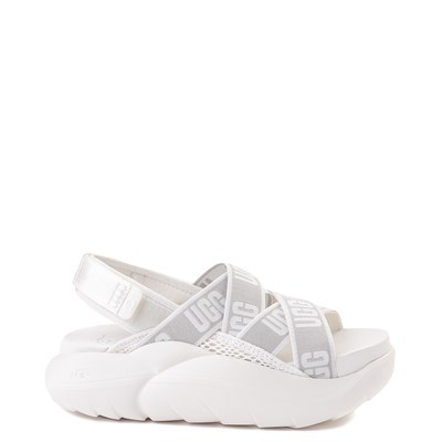 Main view of Womens UGG® LA Cloud Platform Sandal - White