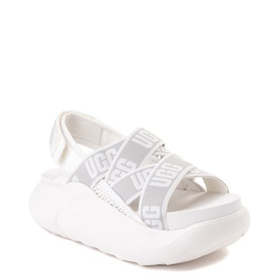 Alternate view of Womens UGG® LA Cloud Platform Sandal - White