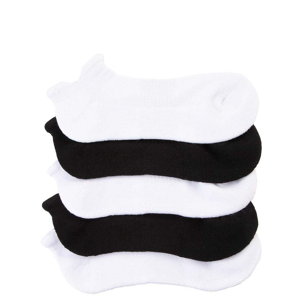 Womens Double Tab No Show Socks 5 Pack