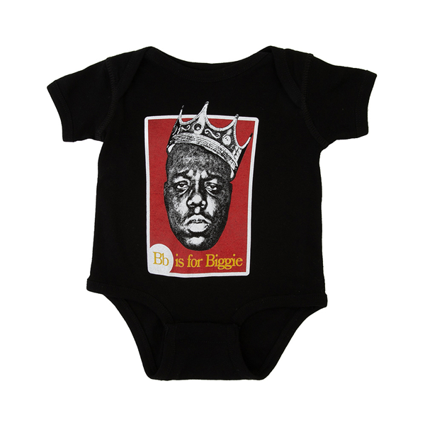 Main view of Bb Is For Biggie Snap Tee - Baby - Black