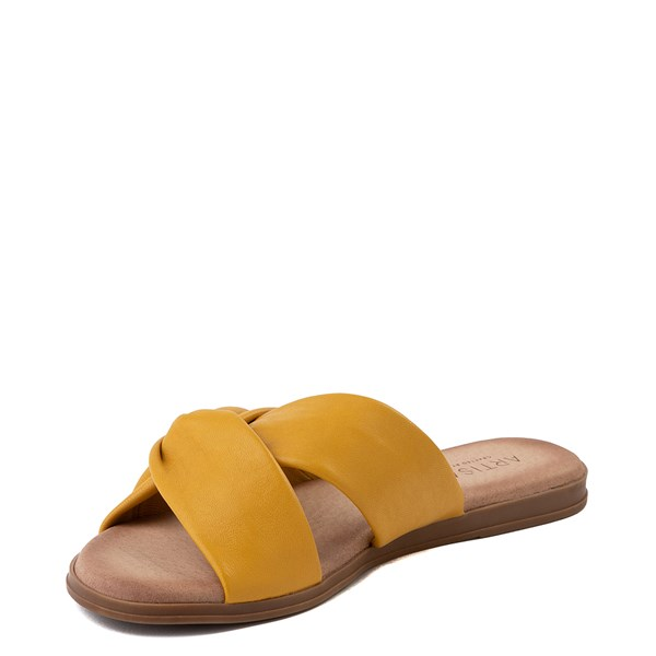 alternate view Womens Artisan by Zigi Enida Slide Sandal - MustardALT3