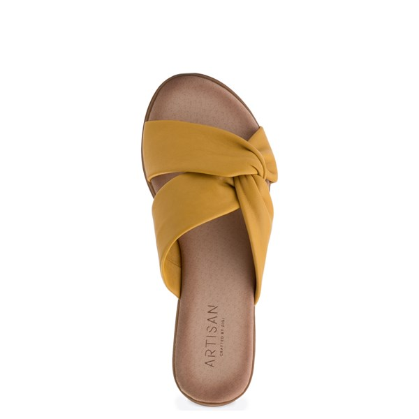 alternate view Womens Artisan by Zigi Enida Slide Sandal - MustardALT4B