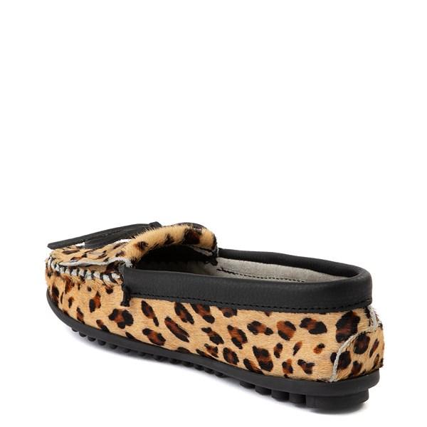 alternate view Womens Minnetonka Full Leopard Moccasin SlipperALT2