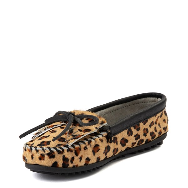 alternate view Womens Minnetonka Full Leopard Moccasin SlipperALT3
