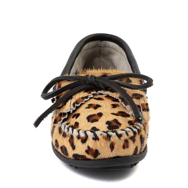 alternate view Womens Minnetonka Full Leopard Moccasin SlipperALT4
