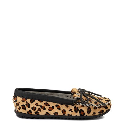 Main view of Womens Minnetonka Full Leopard Moccasin Slipper