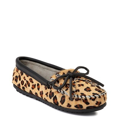 Alternate view of Womens Minnetonka Full Leopard Moccasin Slipper