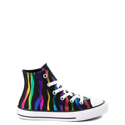 Main view of Converse Chuck Taylor All Star Hi Zebra Sneaker - Little Kid / Big Kid - Black / Rainbow
