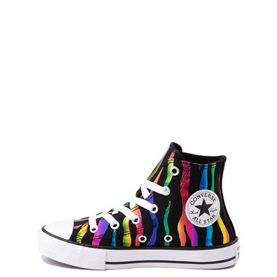 Alternate view of Converse Chuck Taylor All Star Hi Zebra Sneaker - Little Kid / Big Kid - Black / Rainbow