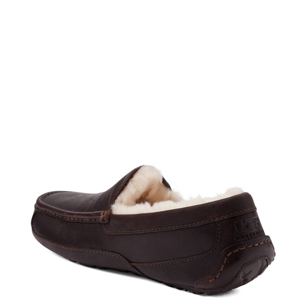 alternate view Mens UGG® Ascot Slip On Casual Shoe - BrownALT1