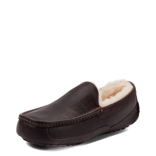 alternate view Mens UGG® Ascot Slip On Casual Shoe - BrownALT2