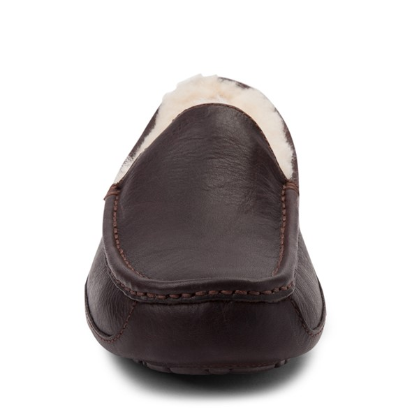alternate view Mens UGG® Ascot Slip On Casual Shoe - BrownALT4
