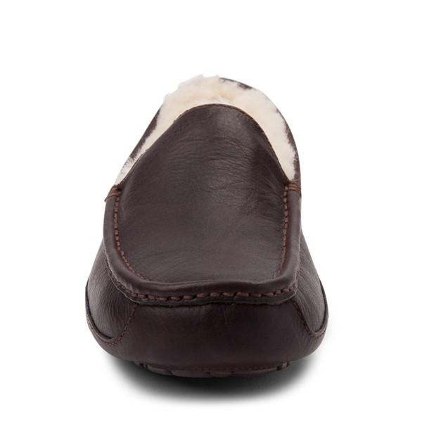 alternate view Mens UGG® Ascot Slip On Casual Shoe - BrownALT4