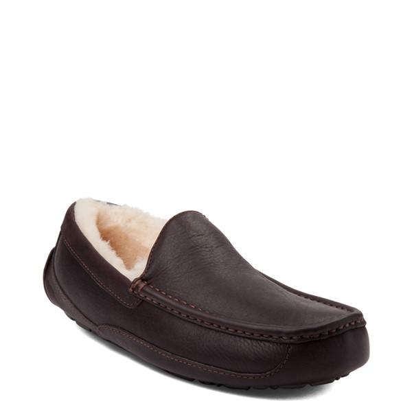 alternate view Mens UGG® Ascot Slip On Casual Shoe - BrownALT5