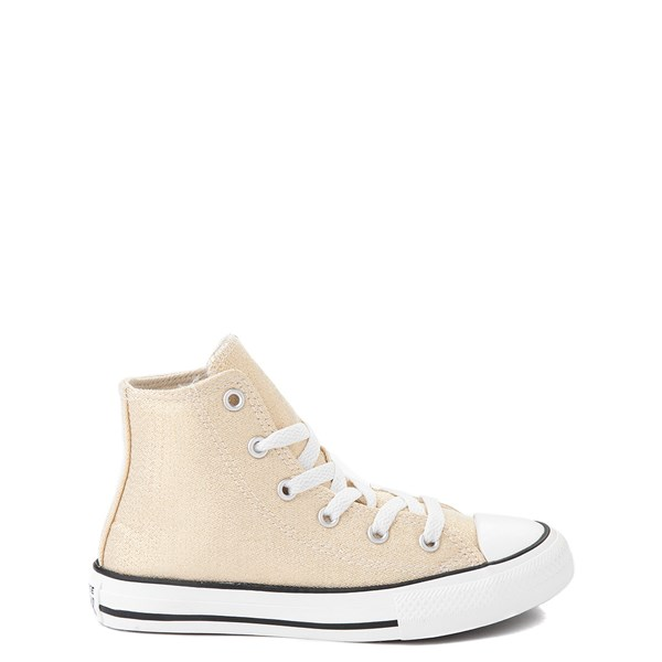 Converse Chuck Taylor All Star Hi Glitter Sneaker - Little Kid / Big Kid - Gold