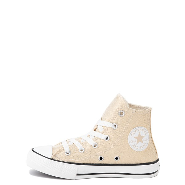 alternate view Converse Chuck Taylor All Star Hi Glitter Sneaker - Little Kid / Big Kid - GoldALT1