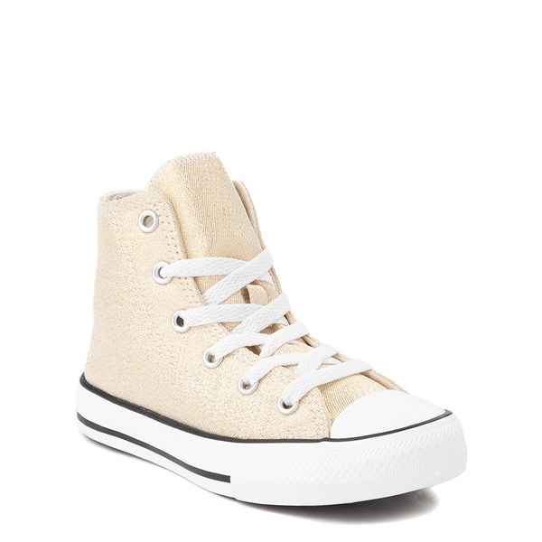 alternate view Converse Chuck Taylor All Star Hi Glitter Sneaker - Little Kid / Big Kid - GoldALT1B