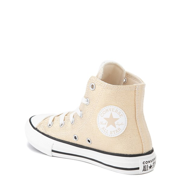 alternate view Converse Chuck Taylor All Star Hi Glitter Sneaker - Little Kid / Big Kid - GoldALT2
