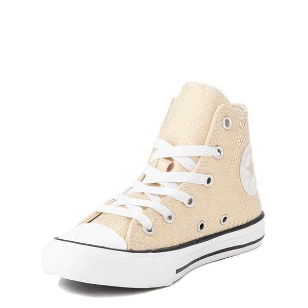 alternate view Converse Chuck Taylor All Star Hi Glitter Sneaker - Little Kid / Big Kid - GoldALT3