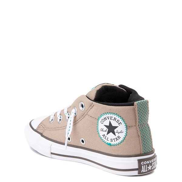 alternate view Converse Chuck Taylor All Star Street Mid Sneaker - Little Kid / Big Kid - Khaki / MalachiteALT2