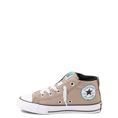 Alternate view of Converse Chuck Taylor All Star Street Mid Sneaker - Little Kid / Big Kid - Khaki / Malachite