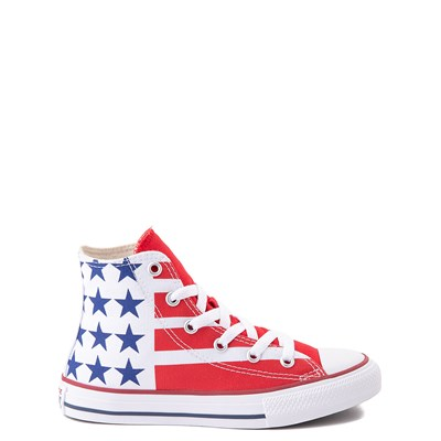 Alternate view of Converse Chuck Taylor All Star Hi Flag Sneaker - Little Kid / Big Kid - Red / White / Blue