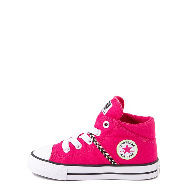 alternate view Converse Chuck Taylor All Star Madison Mid Sneaker - Baby / Toddler - Cerise PinkALT1