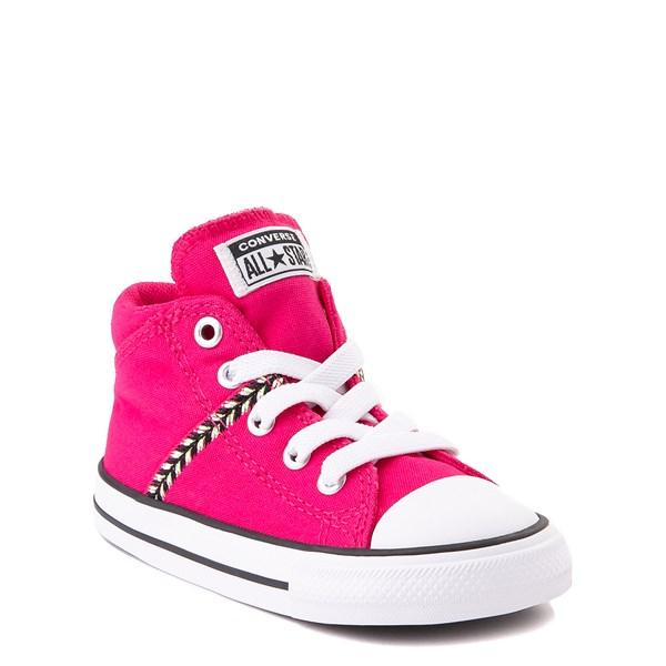 alternate view Converse Chuck Taylor All Star Madison Mid Sneaker - Baby / Toddler - Cerise PinkALT1B