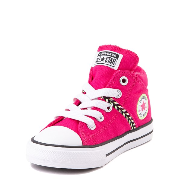 alternate view Converse Chuck Taylor All Star Madison Mid Sneaker - Baby / Toddler - Cerise PinkALT3