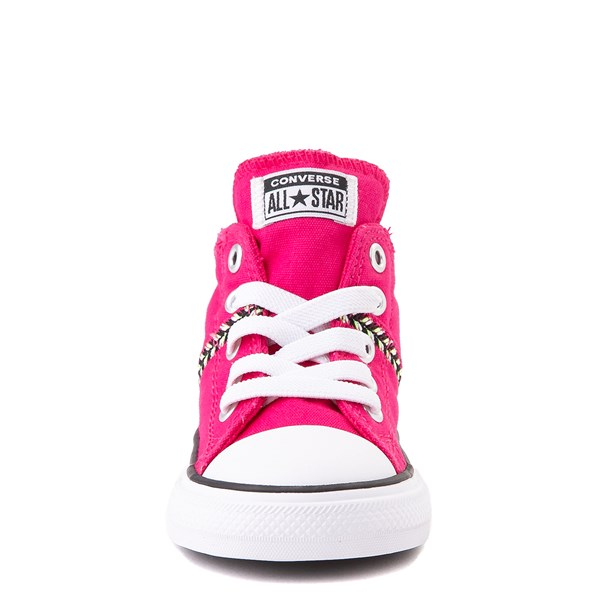 alternate view Converse Chuck Taylor All Star Madison Mid Sneaker - Baby / Toddler - Cerise PinkALT4