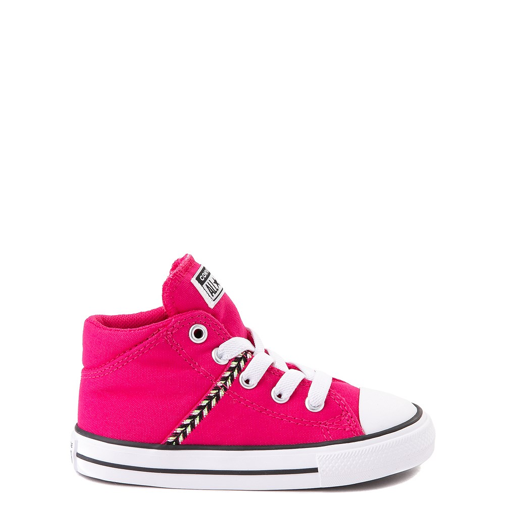 Converse Chuck Taylor All Star Madison Mid Sneaker - Baby / Toddler - Cerise Pink