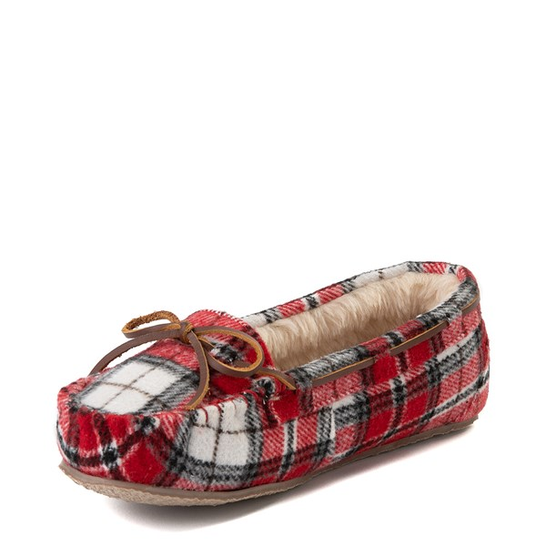 alternate view Womens Minnetonka Cally Plaid SlipperALT3