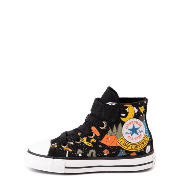 alternate view Converse Chuck Taylor All Star 1V Hi Camp Converse Sneaker - Baby / Toddler - BlackALT1