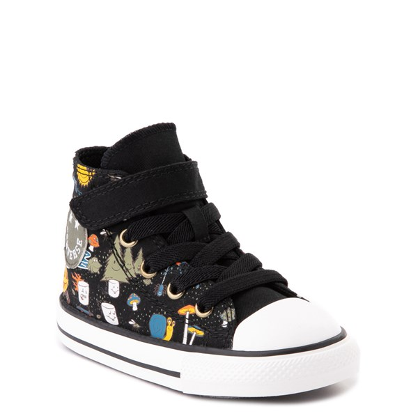 alternate view Converse Chuck Taylor All Star 1V Hi Camp Converse Sneaker - Baby / Toddler - BlackALT1B