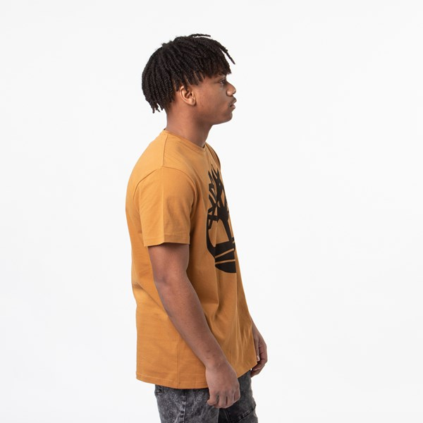 alternate view Mens Timberland Core Logo Crew Tee - WheatALT3