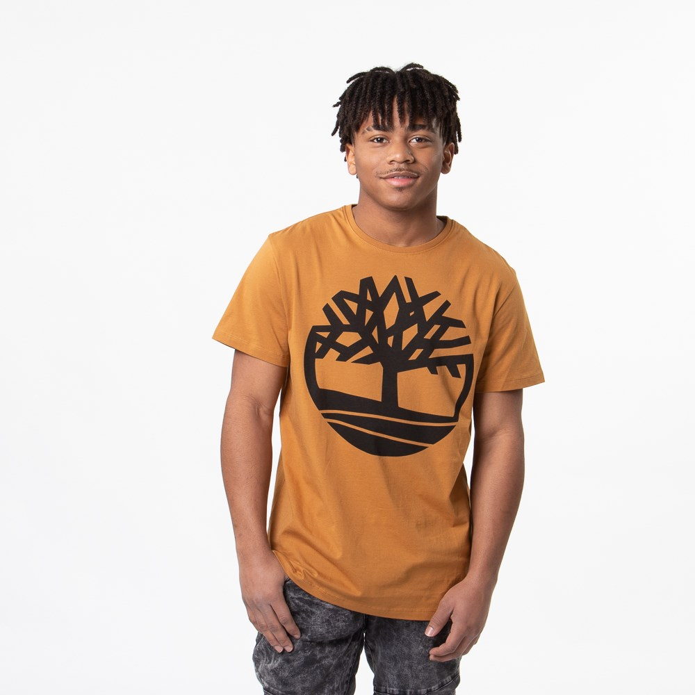 Mens Timberland Core Logo Crew Tee - Wheat
