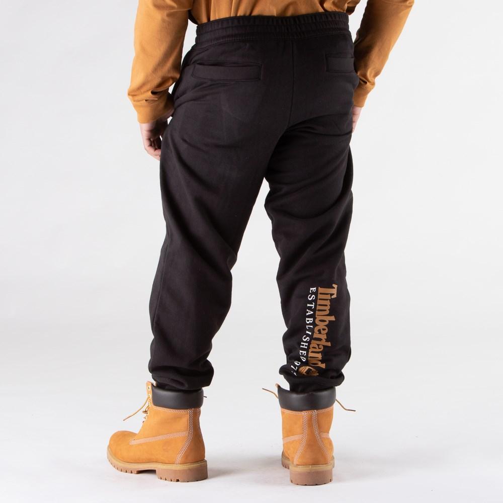 Mens Timberland Established Logo Sweatpants - Black