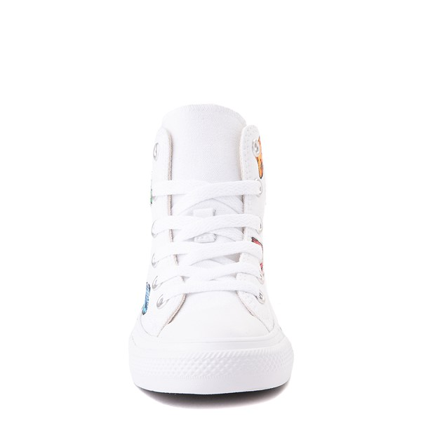 alternate view Converse Chuck Taylor All Star Hi Lizard Sneaker - Little Kid / Big Kid - WhiteALT4