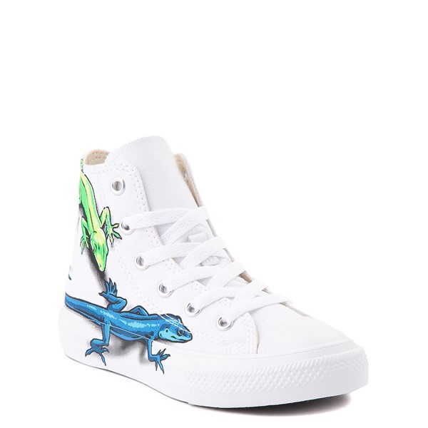 alternate view Converse Chuck Taylor All Star Hi Lizard Sneaker - Little Kid / Big Kid - WhiteALT5