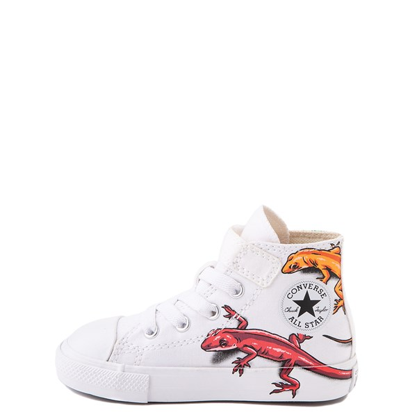 alternate view Converse Chuck Taylor All Star 1V Hi Lizard Sneaker - Baby / Toddler - WhiteALT1