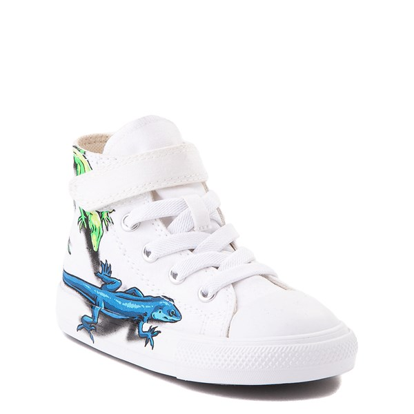 alternate view Converse Chuck Taylor All Star 1V Hi Lizard Sneaker - Baby / Toddler - WhiteALT1B