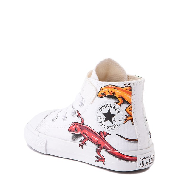 alternate view Converse Chuck Taylor All Star 1V Hi Lizard Sneaker - Baby / Toddler - WhiteALT2