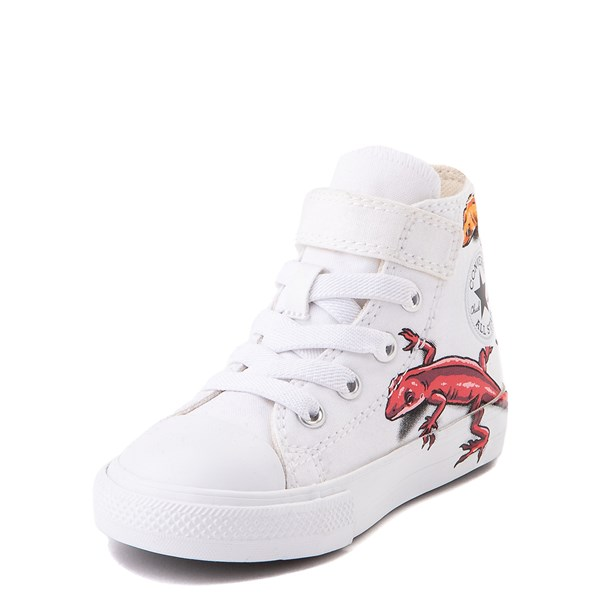 alternate view Converse Chuck Taylor All Star 1V Hi Lizard Sneaker - Baby / Toddler - WhiteALT3