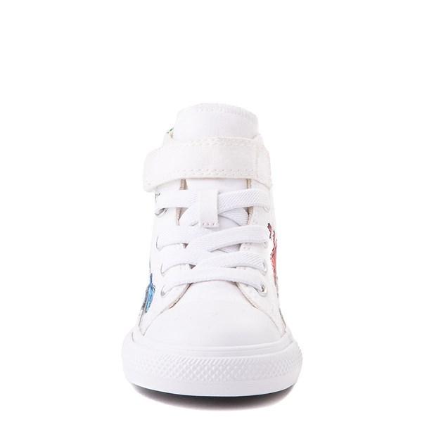 alternate view Converse Chuck Taylor All Star 1V Hi Lizard Sneaker - Baby / Toddler - WhiteALT4