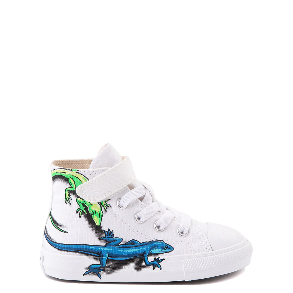 Converse Chuck Taylor All Star 1V Hi Lizard Sneaker - Baby / Toddler - White