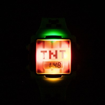 Alternate view of Minecraft TNT Watch - Green