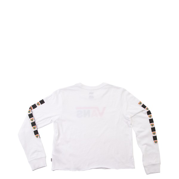 Alternate view of Vans Scotch Hop Cropped Long Sleeve Tee - Little Kid - White