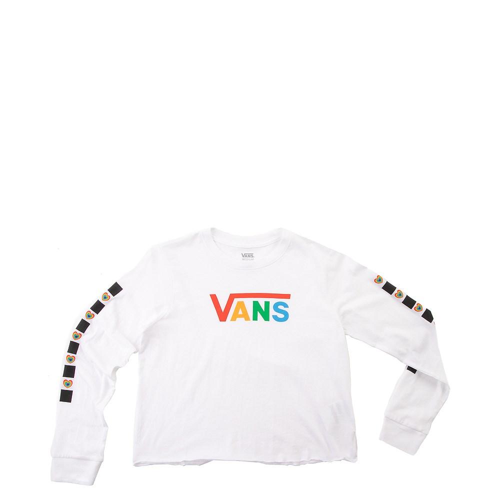 Vans Scotch Hop Cropped Long Sleeve Tee - Little Kid / Big Kid - White