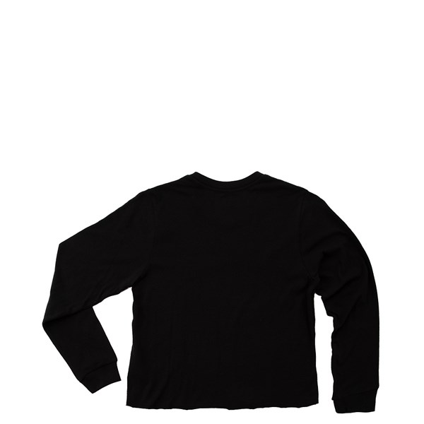 alternate view Vans  Carro Sel Cropped Long Sleeve Tee - Little Kid / Big Kid - BlackALT1