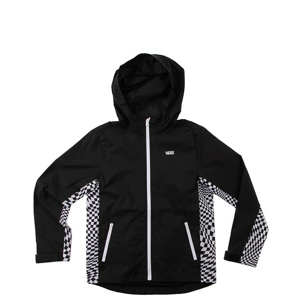 Vans Warp Check Windbreaker Hoodie - Little Kid / Big Kid - Black